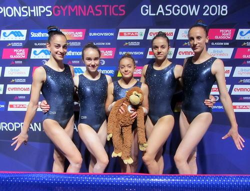 Das österreichische Kunstturnerinnen-Junioren-EM-Team 2018
